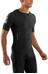 Skins A400 Compression Koszulka do biegania z krótkim rękawem Mężczyźni szary